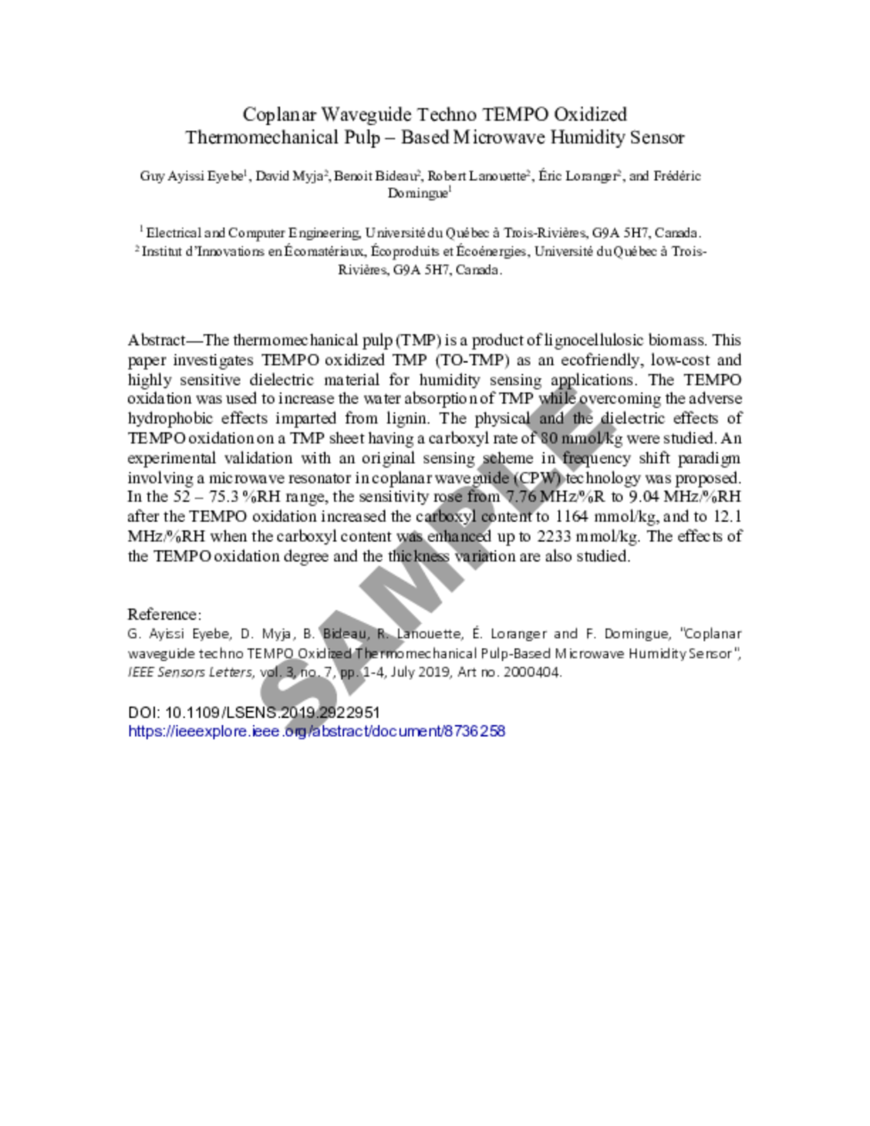 Author Information  IEEE SENSORS 21 Within Ieee Journal Template Word